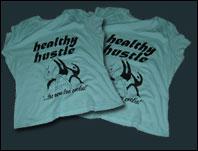 The Healthy Hustle Black Print T-Shirt